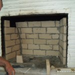 professionally repaired firebox with heat resistant materials