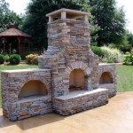 3 chambered outdoor fireplace