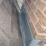 A properly flashed chimney is water tight