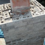 Chimney with its crown removed