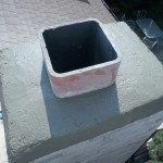 chimney with crown repaired