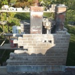A chimney with missing bricks can be restored